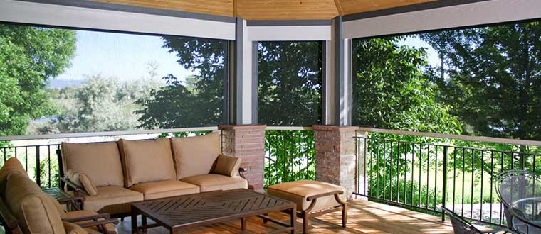 Exterior blinds, weatherproof, durable and attractive