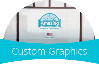 Custom Graphics are ideal for commerical or residential applications
